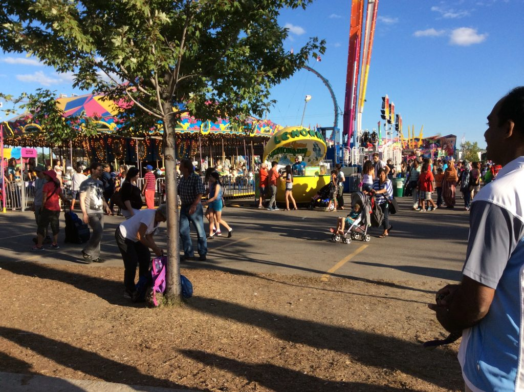 A lot of people join Canadian National Exhibition