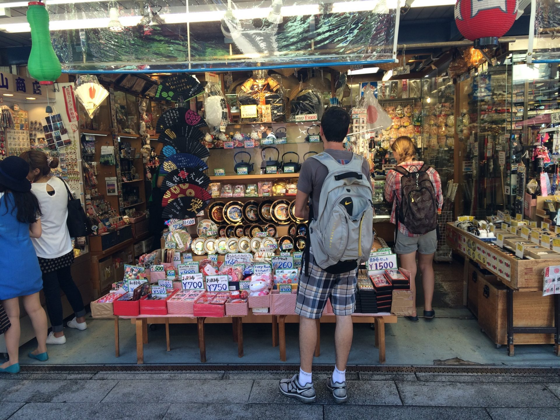 Japanese souvenir shops at Asakusa