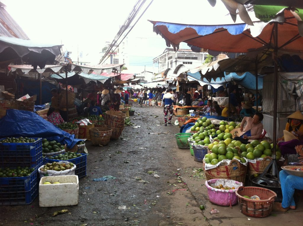 A local market at My Tho, Tien Giang