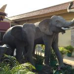 Elephant statues in Cambodian Royal Palace, Phnom Penh