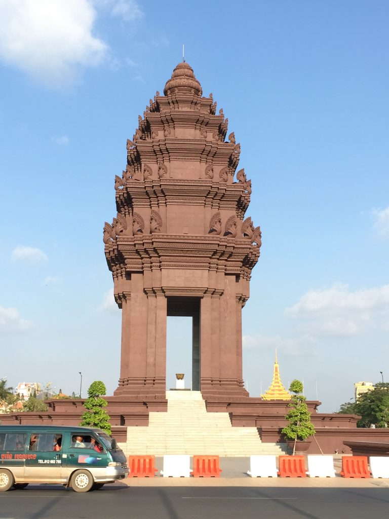 an architecture inside Phnom Penh city, Cambodia