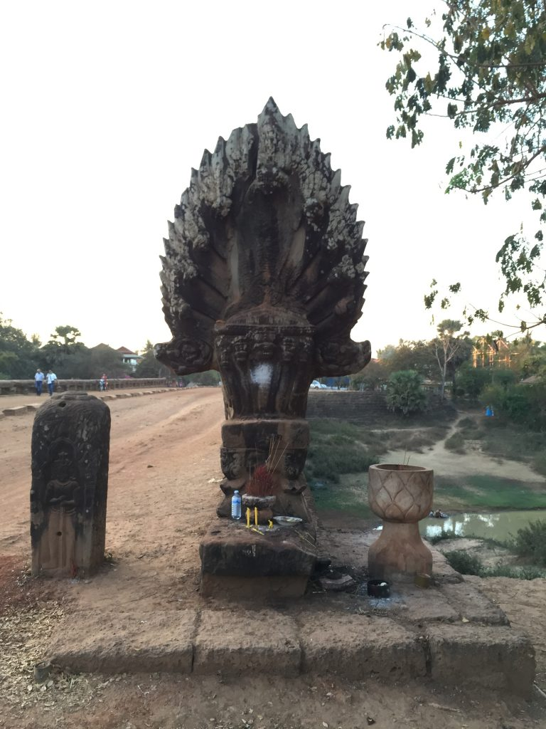 The 9 heads snake Naga - sympol of Preah Toes Bridge meet in Cambodia 7 days itinerary
