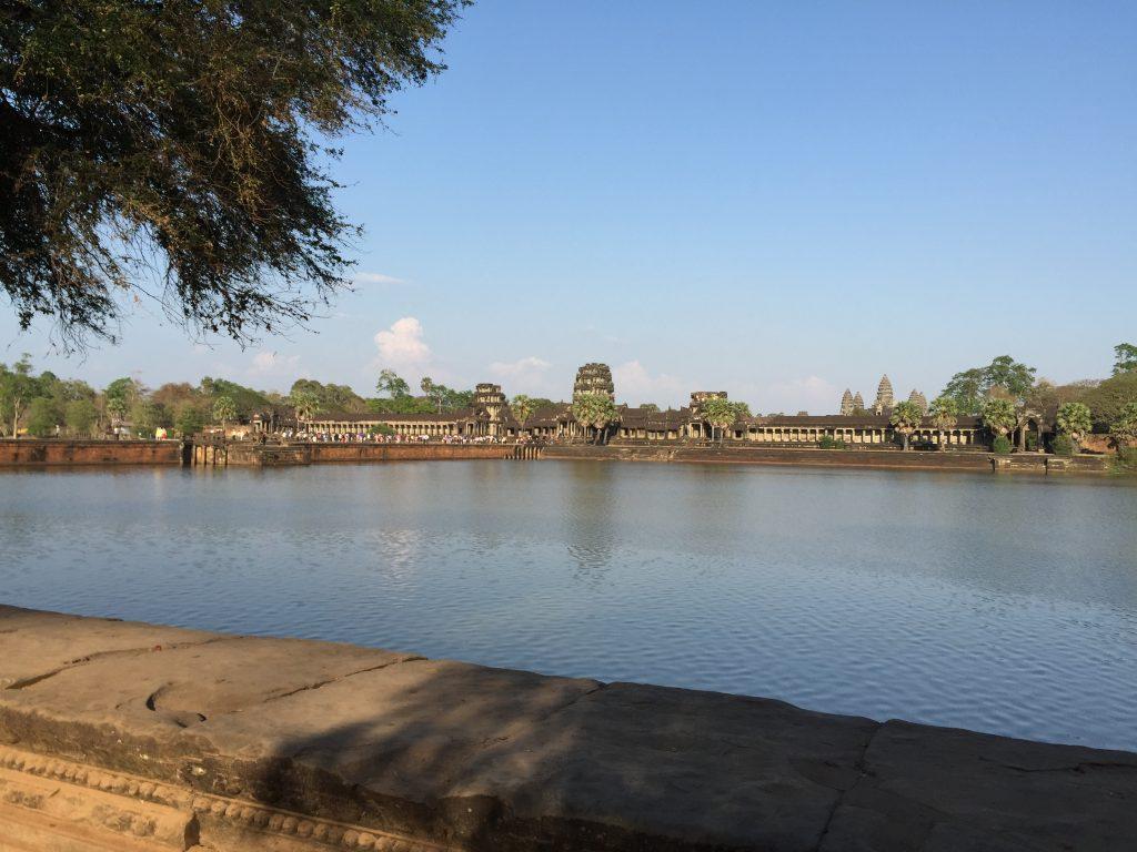 Angkor Wat across the lake in Siem Reap