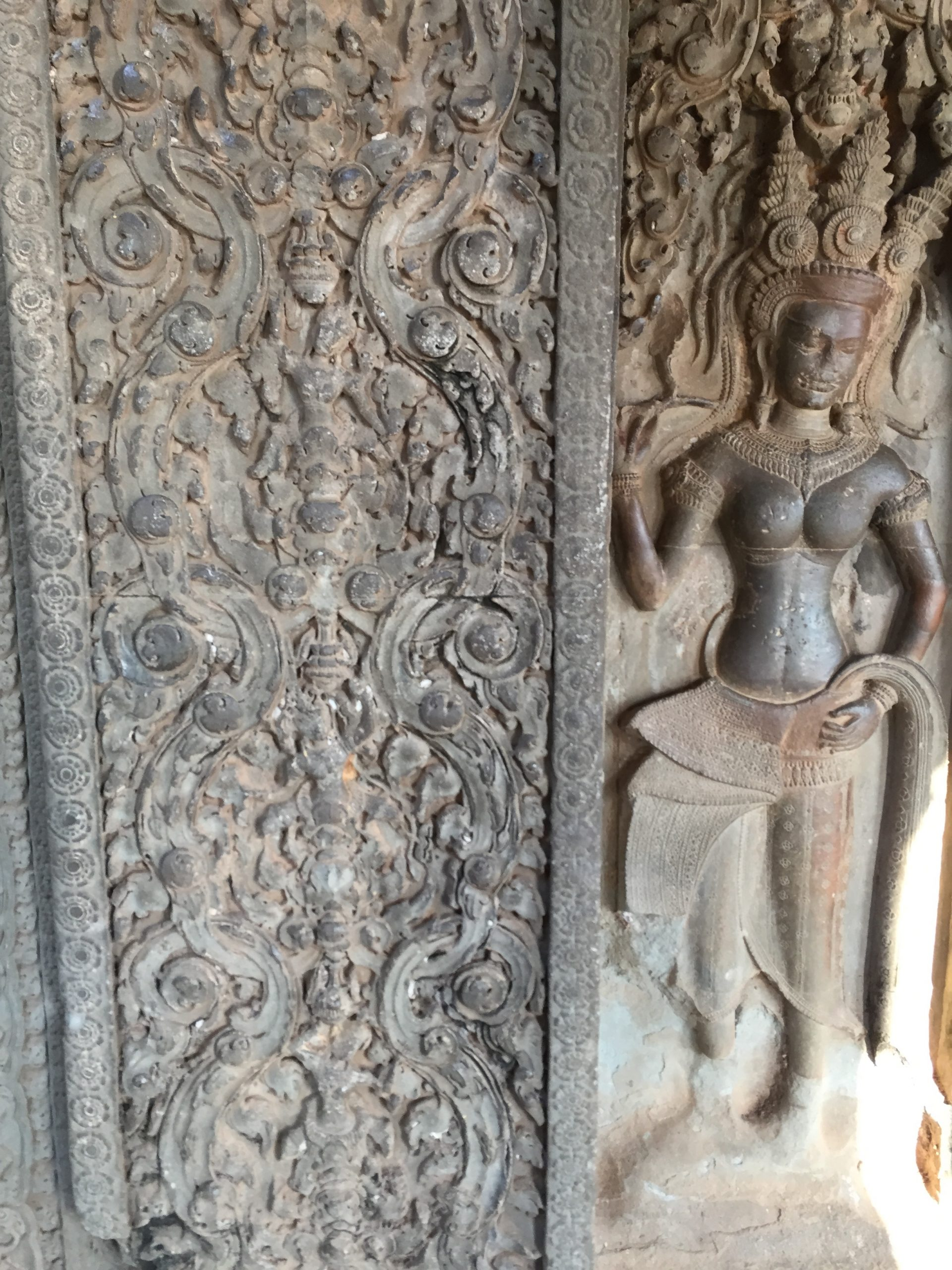 An art sculpture at Angkor Wat, Siem Reap