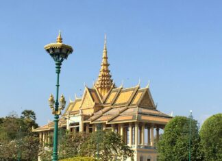 Chanchhaya Pavillion in Cambodia's Royal Palace, Phnom Penh