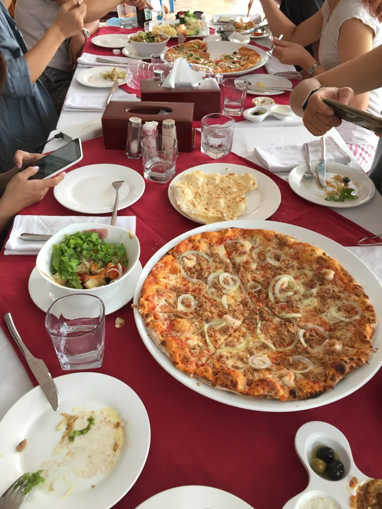 Our lunch at Olive&Olive restaurant, it's as good at taste and price