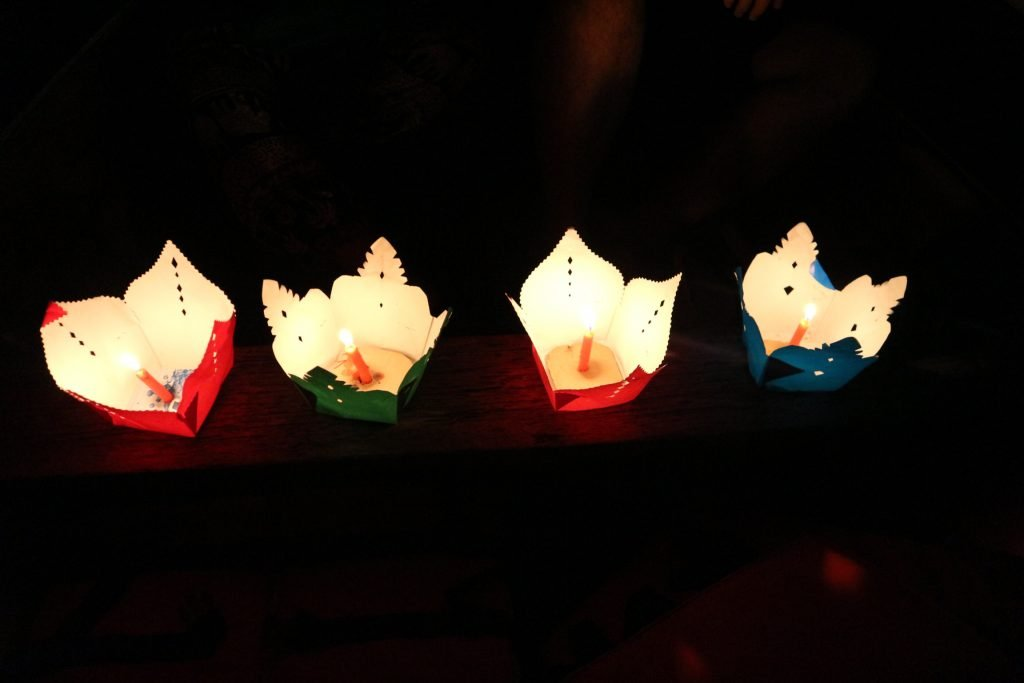 paper lantern dropped on Hoi An ancient town's river
