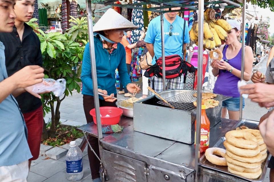 banana cake, a local street-dessert at Hoi An Ancient Town
