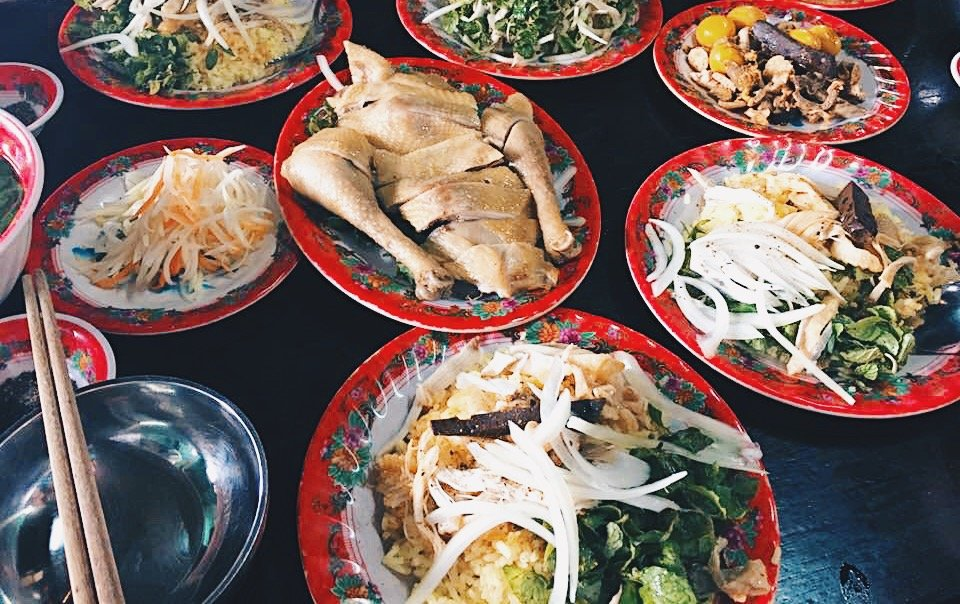 Well-known Ba Bui chicken rice located at 22 Phan Chau Trinh, Hoi An Ancient Town