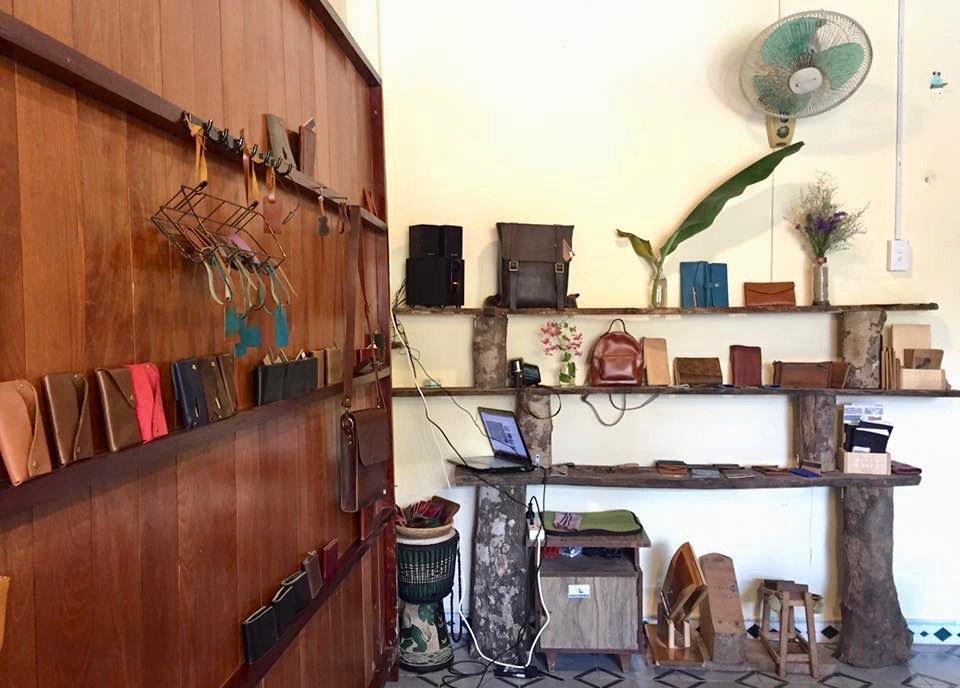 Leather-craft workshop located at 51/5b Phan Chau Trinh, Hoi An Ancient Town, Vietnam