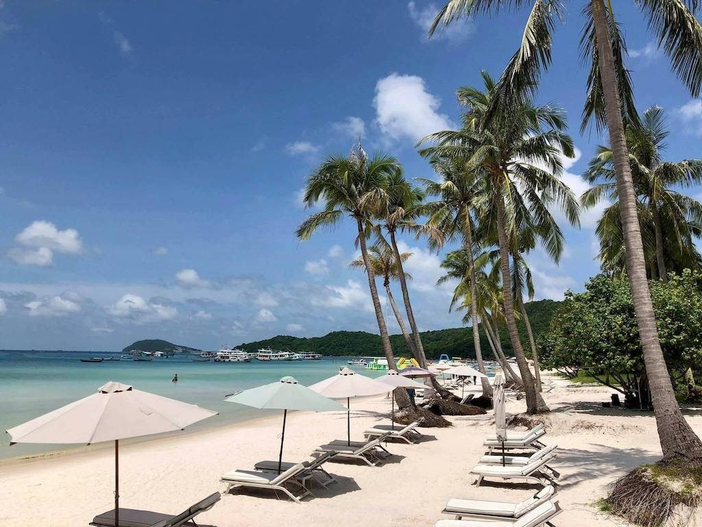 Star Beach at Phu Quoc Island, Vietnam for summer vacation