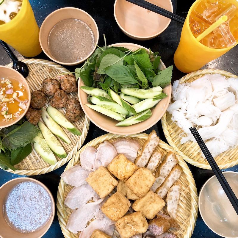 Shrimp paste in the combo of 'Bún đậu mắm tôm'