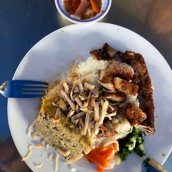 Cơm Tấm - Broken Rice with Pork Rib at Cơm Tấm Hùng Võ Văn Tần