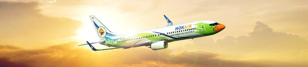 Nok Air's airplane photo for the broad life's travel tips