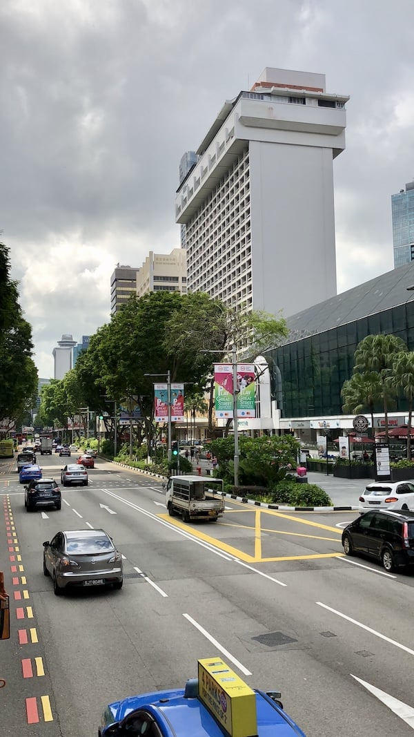 Singapore city bus tour. Final station at Orchad