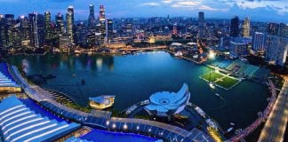 View of Singapore City from Marina Bay Sands Sky Park. The Broad Life trip from Singapore to Malaysia