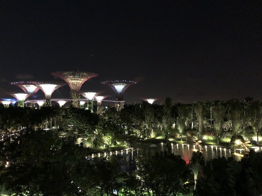 view of gardens by the bay singapore
