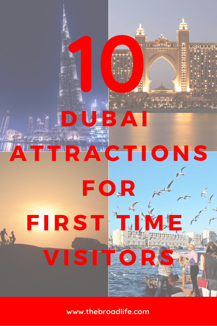 Pinterest Board of 10 Best Attractions in Dubai for First Time Visitor - The Broad Life