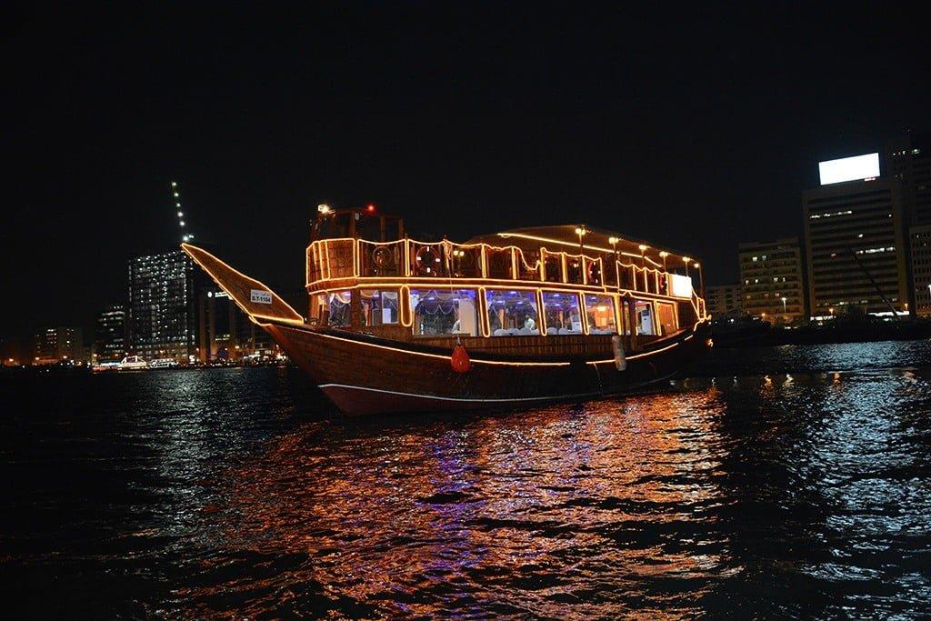 Dhow Dinner Cruise in Dubai, UAE