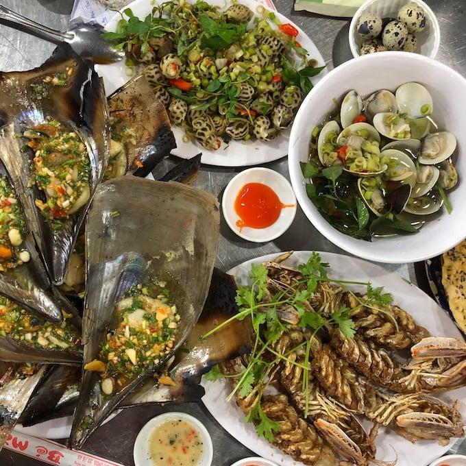 Seafood at Quán Bé Mặn, Da Nang City, Vietnam