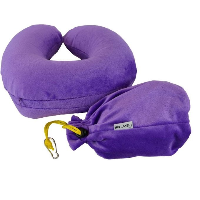 inflatable neck pillow for travelers
