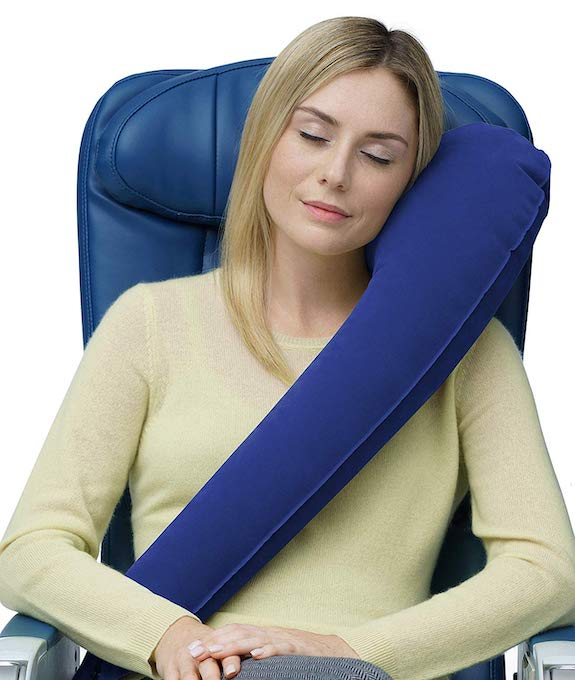Travelrest, inflatable neck pillow for travelers