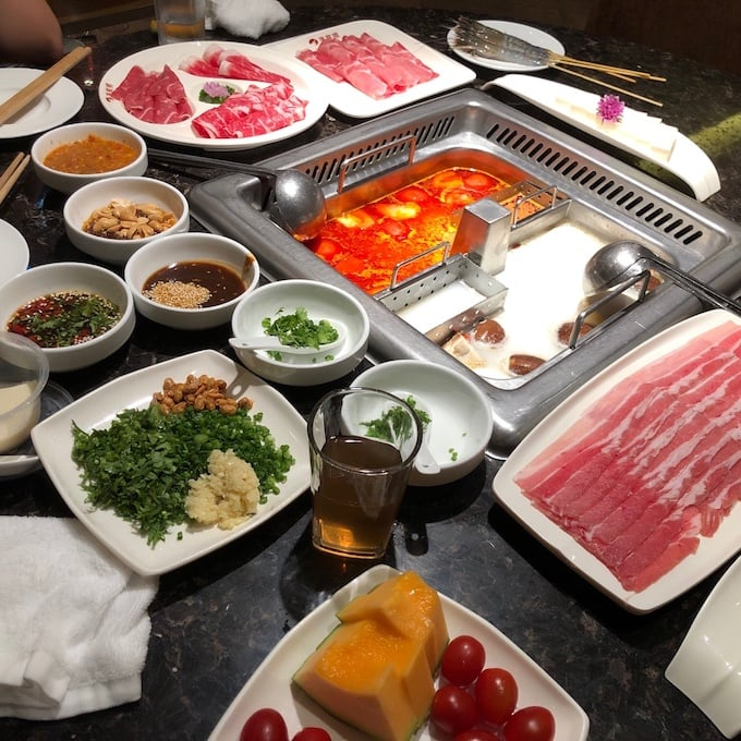 Haidilao Hotpot, one of the best Singapore food