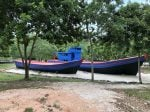 boats at refugee camp, batam island