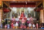 Buddha at batam pulau galang, a vietnamese pagoda at batam island, indonesia