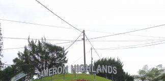 the word Cameron Highlands at Tanah Rata