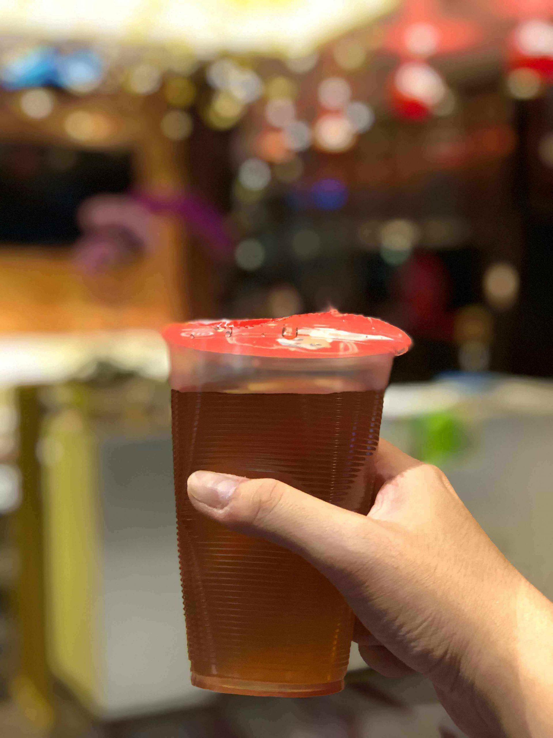 Haidilao drink's special tea at Haidilao Singapore