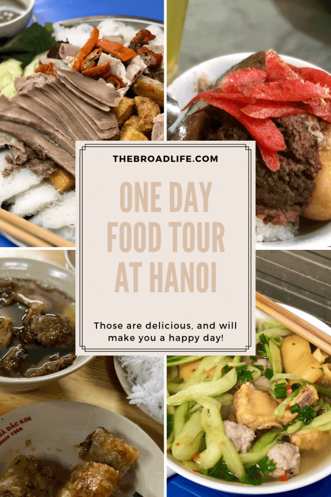 Pinterest Board of One Day Food Tour at Hanoi - The Broad Life