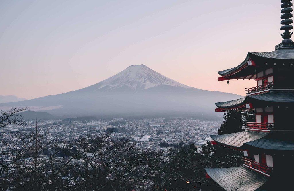 Chureito Pagoda and Mount Fuji, an attraction at Japan, Far East Asia