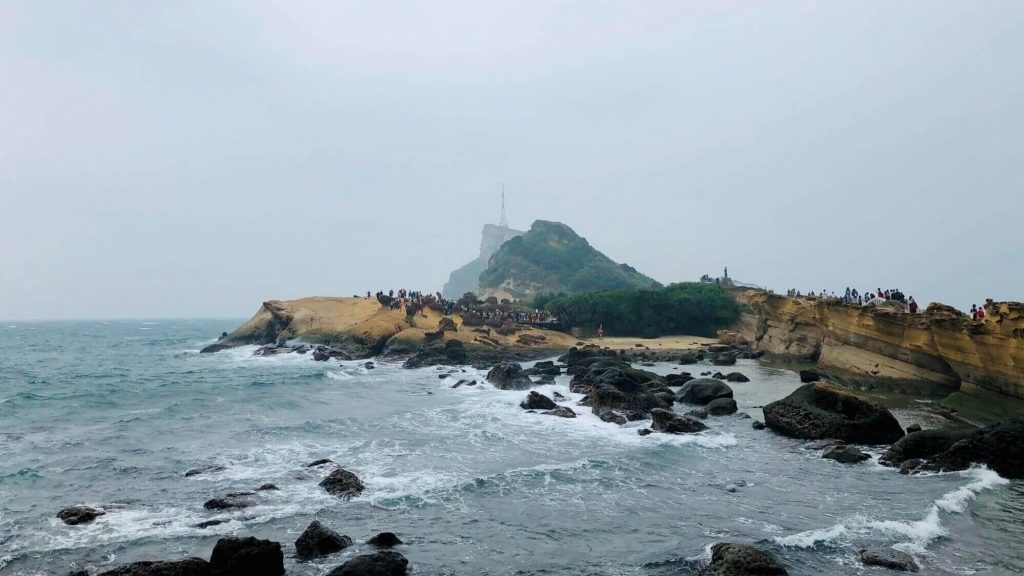 area 3 of Yehliu Geopark with view from area 1