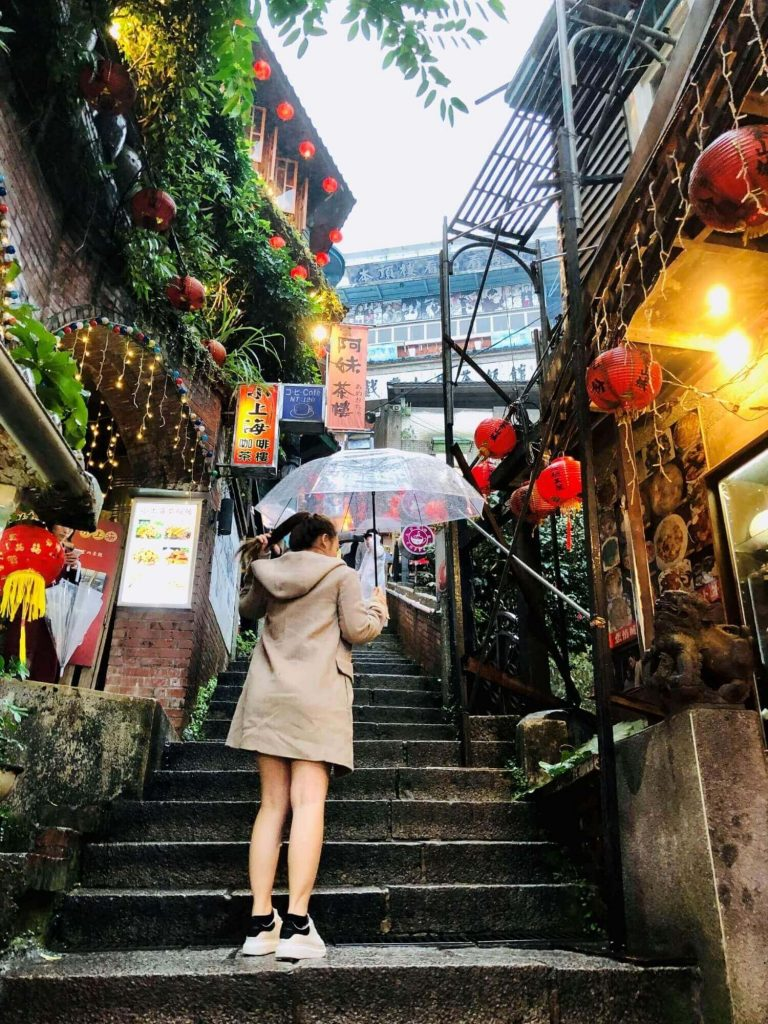 the main road at Jiufen Old Street, Taipei