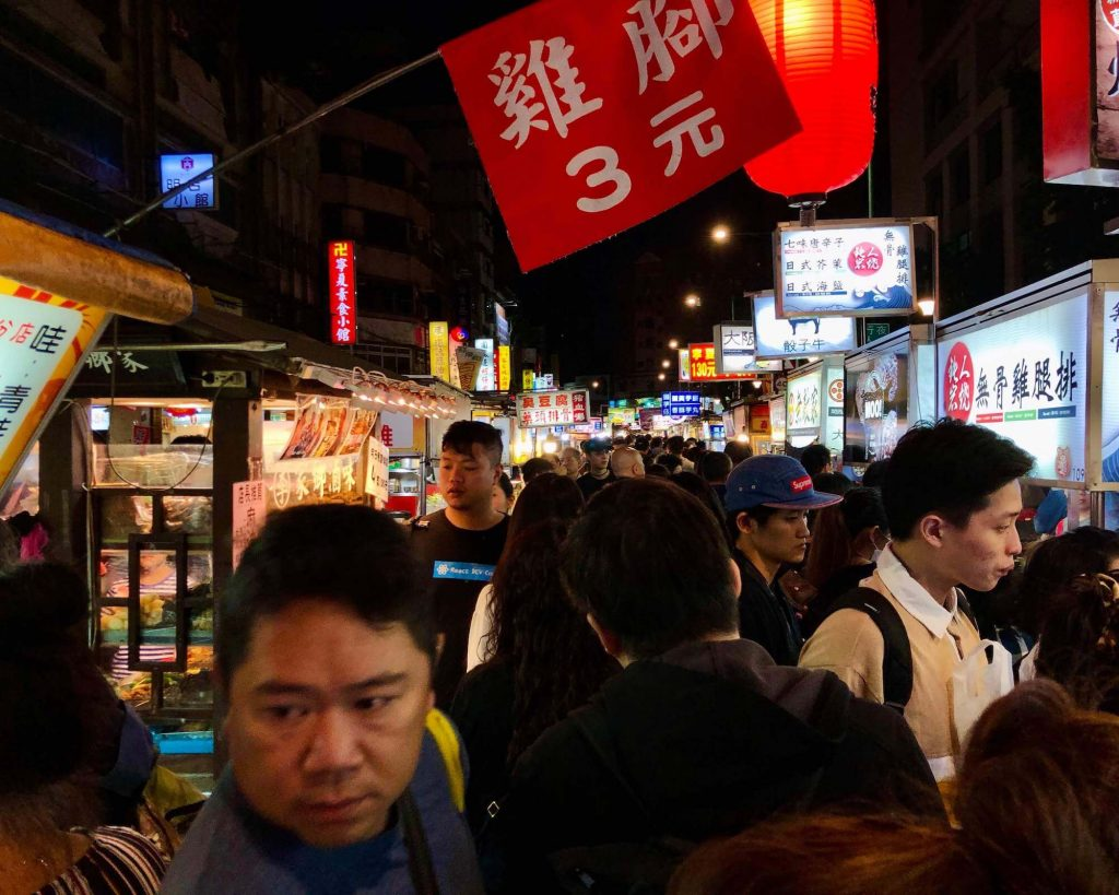 Ningxia night market with a lot of food vendors