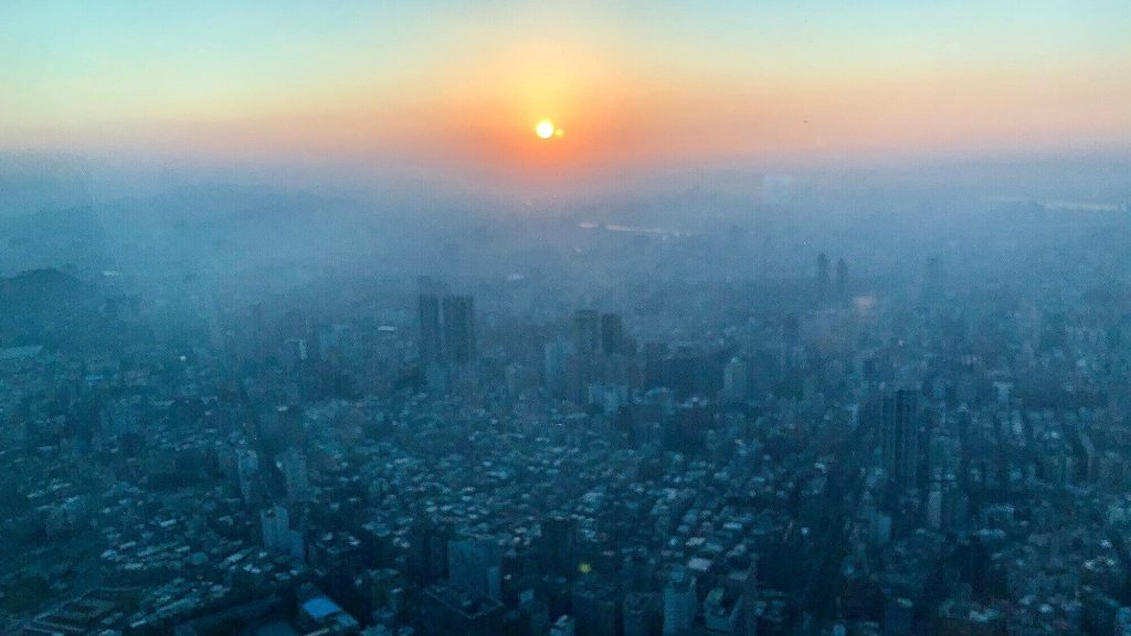 View of Taipei when sunset
