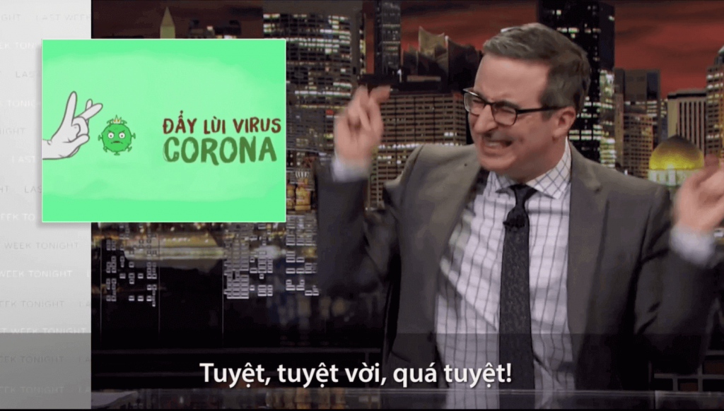 """The song 'Ghen Cô Vy' about preventing coronavirus was featured on John Oliver's """"Last Week Tonight"""""""