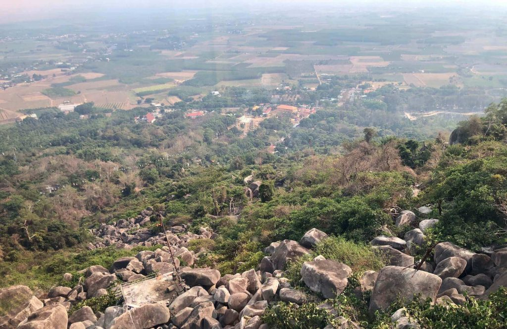 A part of Tay Ninh, view from a cable car