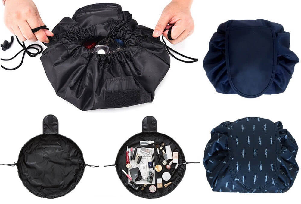Travel Pouch Drawstring Bag, a type of toiletry bag