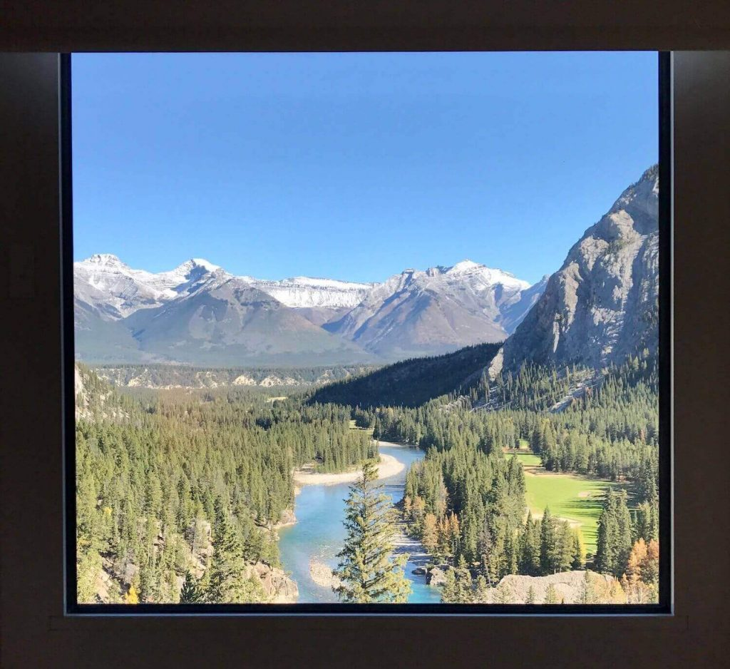 View from a room of Fairmont Banff Springs