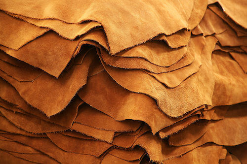 An example of a leather material