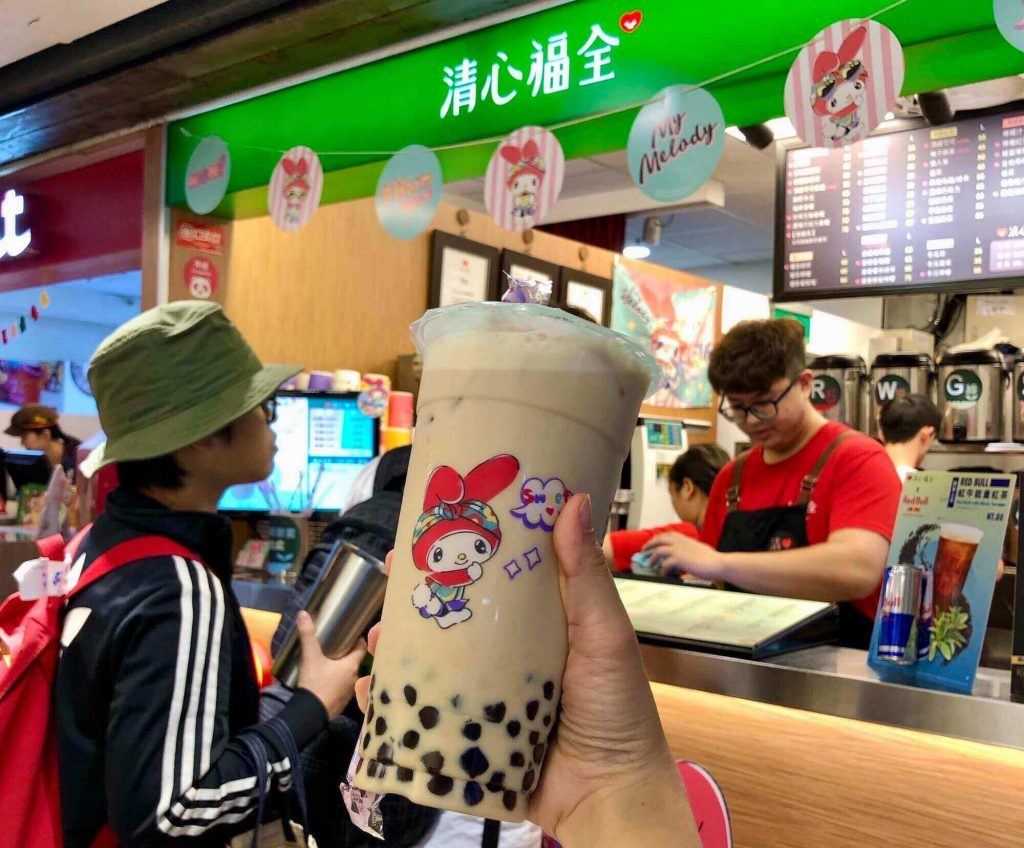 Unbranded Taiwan milk tea at a night market