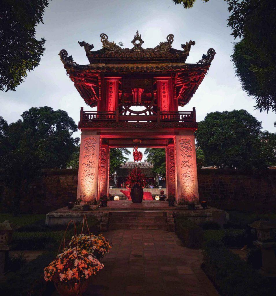 The Constellation of Literature pavilion at the Temple of Literature Hanoi