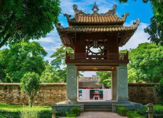 Constellation of Literature pavilion at the Temple of Literature Hanoi