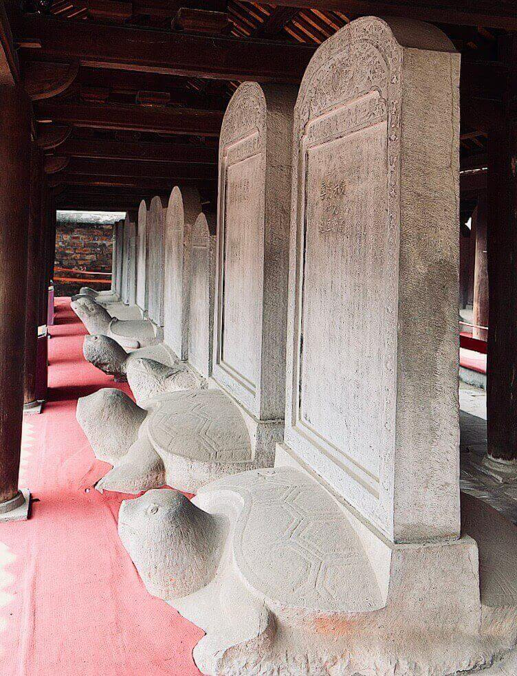 Doctoral Steles at Temple of Literature Hanoi