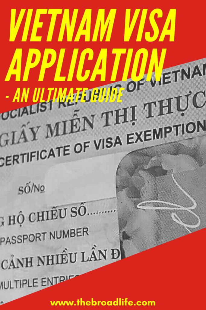 The Broad Life's Pinterest Board of Vietnam Visa Application Post