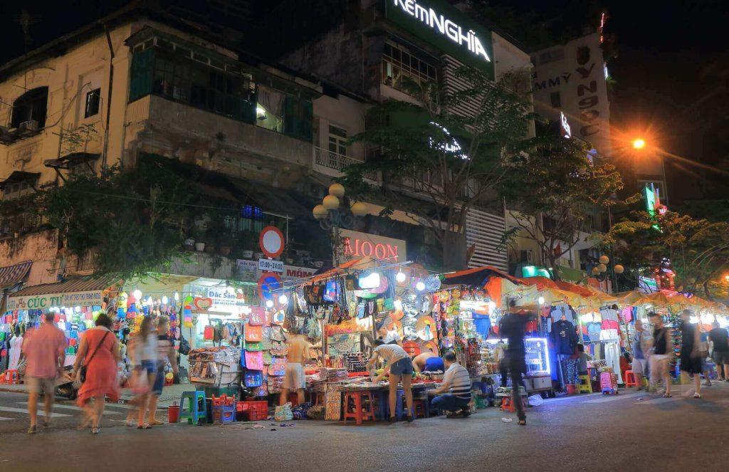 A corner of Ben Thanh market at night