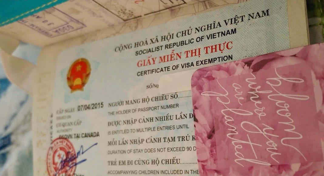 Example of Vietnam Visa Exemption