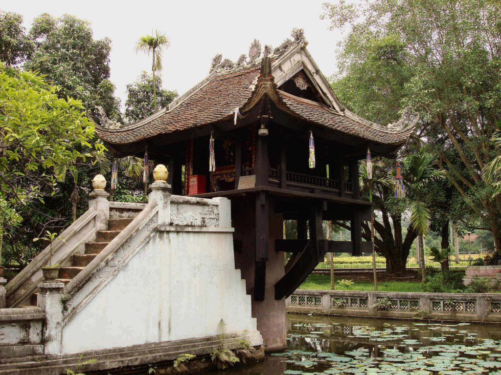 One Pillar Pagoda, one of the special Vietnam pagodas in Hanoi